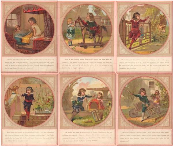 Victorian Antique Children' Book Six Illustrations