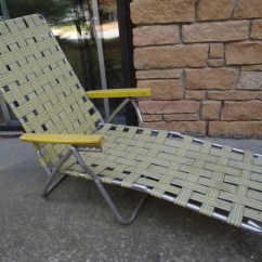 Webbing For Aluminum Folding Chairs Black Spindle Back Dining Retro Webbed Lawn Chair Lounger Fabulous Yellow Blue
