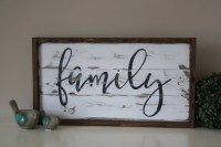 Wooden family sign Reclaimed wood wall art Family sign
