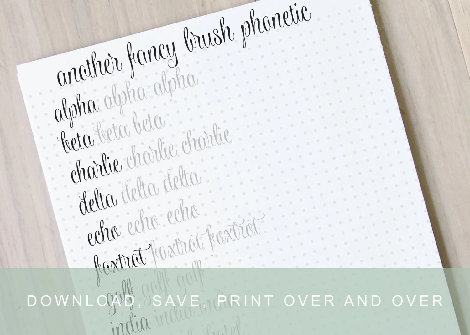 Another Fancy Brush Lettering Worksheet Calligraphy Tutorial Alphabet Practice Guides Learn