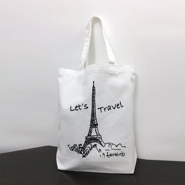 Eiffel Tower Design Tote Bag