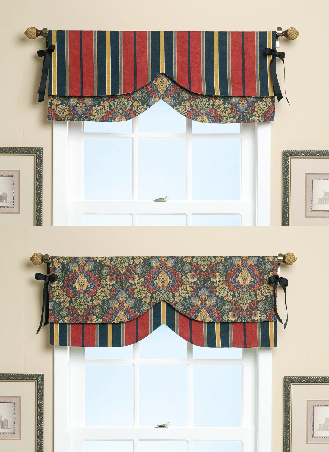 Sewing Pattern For Reversible Window Valances Butterick Craft