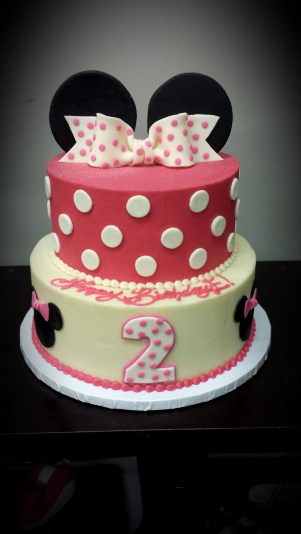 Minnie Mouse Cake Topper Set Bow And Ears