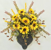 Sunflower Door Sconce Sunflower Door Decor Sunflower Wreath
