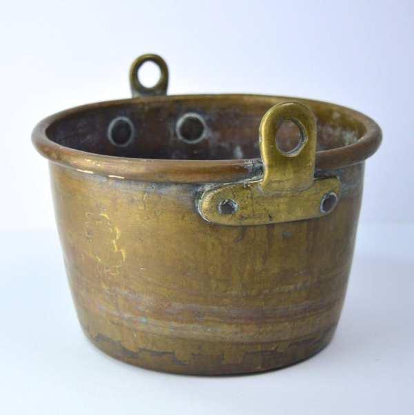 Brass Planter Vintage Flower Pot Bowl