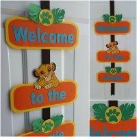 Lion King Welcome Door Sign Lion King Door by ...