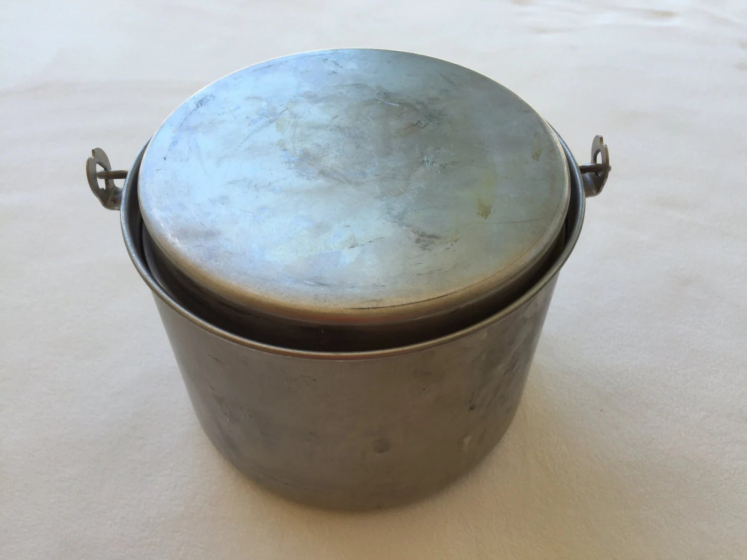 Camping Cookware Vintage Aluminum Pots and by BetterThanBellows