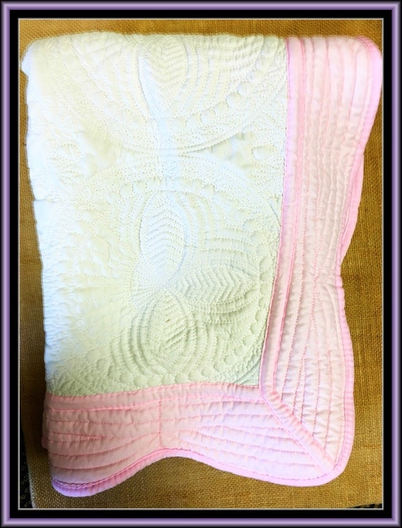 how to monogram a baby blanket