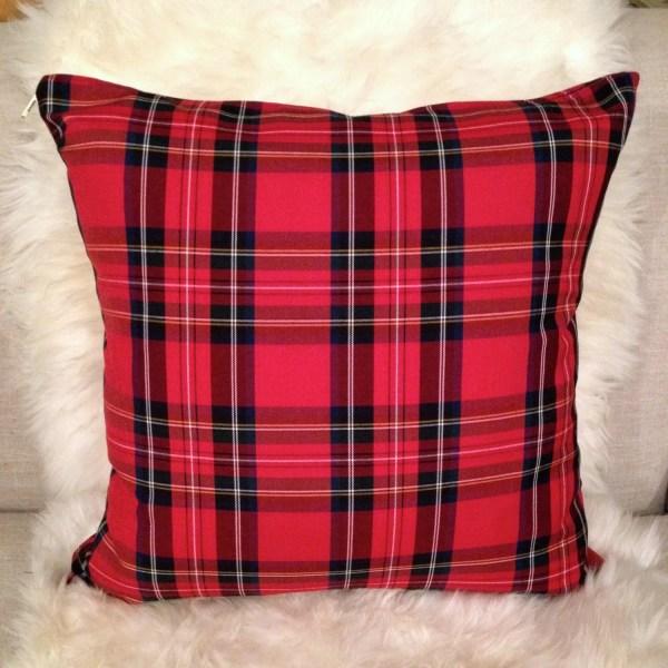 Tartan Plaid Pillow Cover Christmas