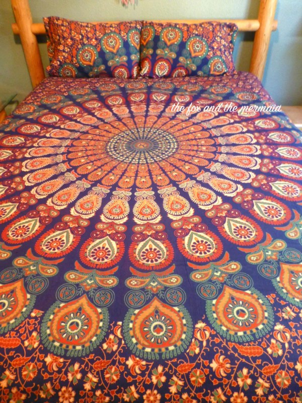 mandala tapestry duvet cover and pillowcases Indian tapestry