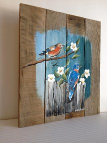 Pallet Painting Distressed Wood Art Customizable