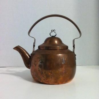 Vintage Tea Kettle Small Copper Tea Kettle Mid Century Copper Kettle Copper Teapot Tea Pot Retro Copper Decor Vintage Kitchen