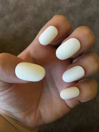 White Fake Nails Press On Glue On Nails Different Shapes