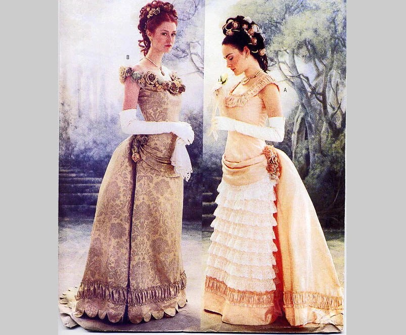 Butterick Historical Pattern Victorian Ball Gown With