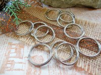 Silver Hoops, Large, Craft Rings, Craft Supplies, Belt ...