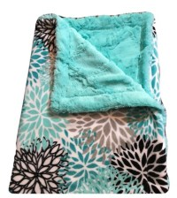 Personalized Minky Baby Blanket Minky Infant Blanket Teal
