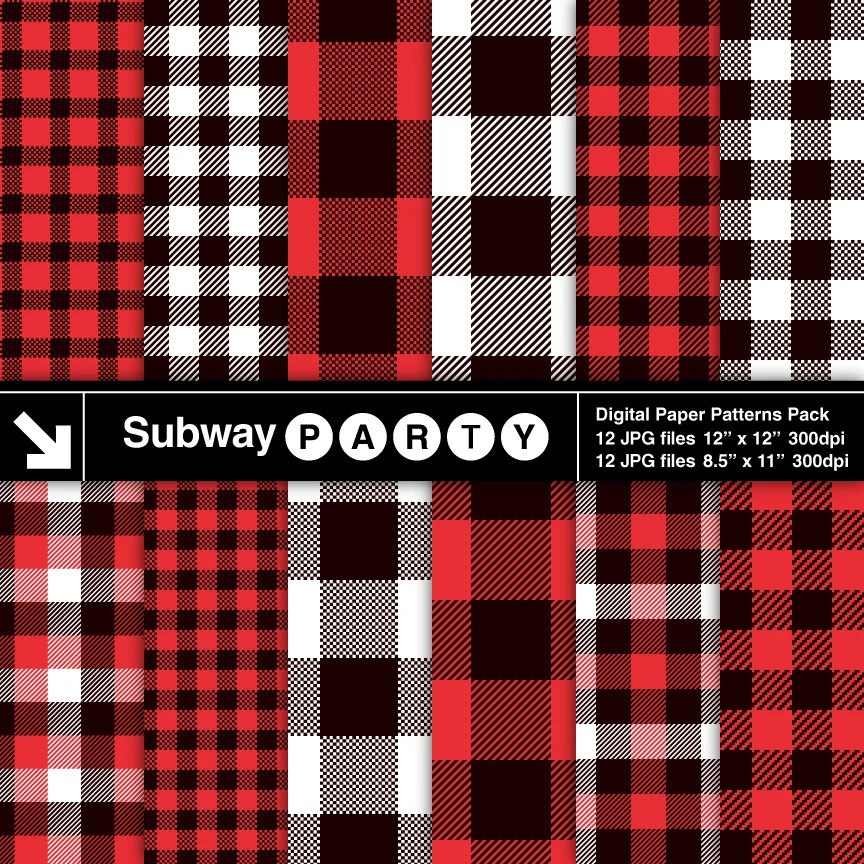 Lumberjack Flannel, Buffalo Check Plaid Red, Black And