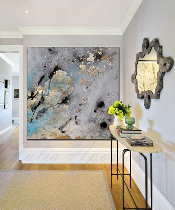 45inch Gold Leaf Print Of Original Watercolor Painting