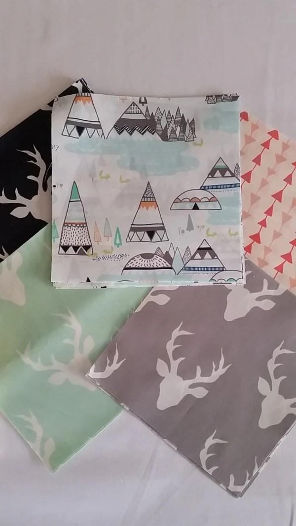 Art Quilt Kit Bear Fabric Deer
