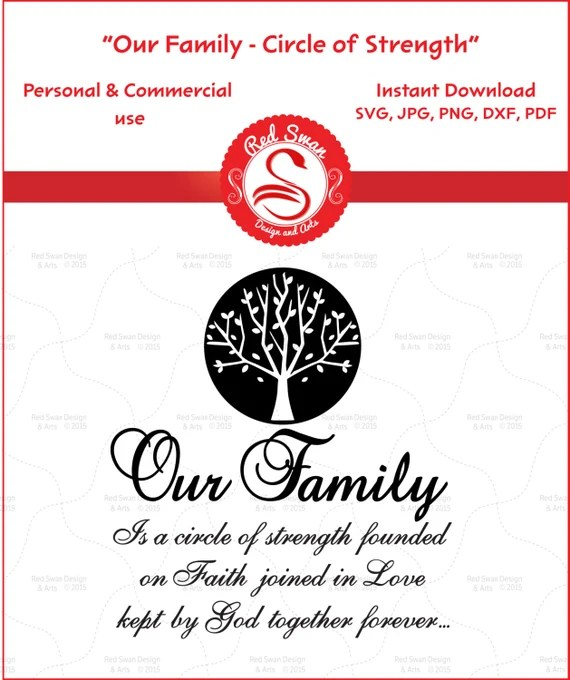 Download Items similar to Our Family is a Circle of Strength ...
