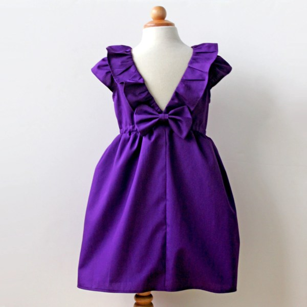Violet Purple Dress Toddler And Girl Birthday Party