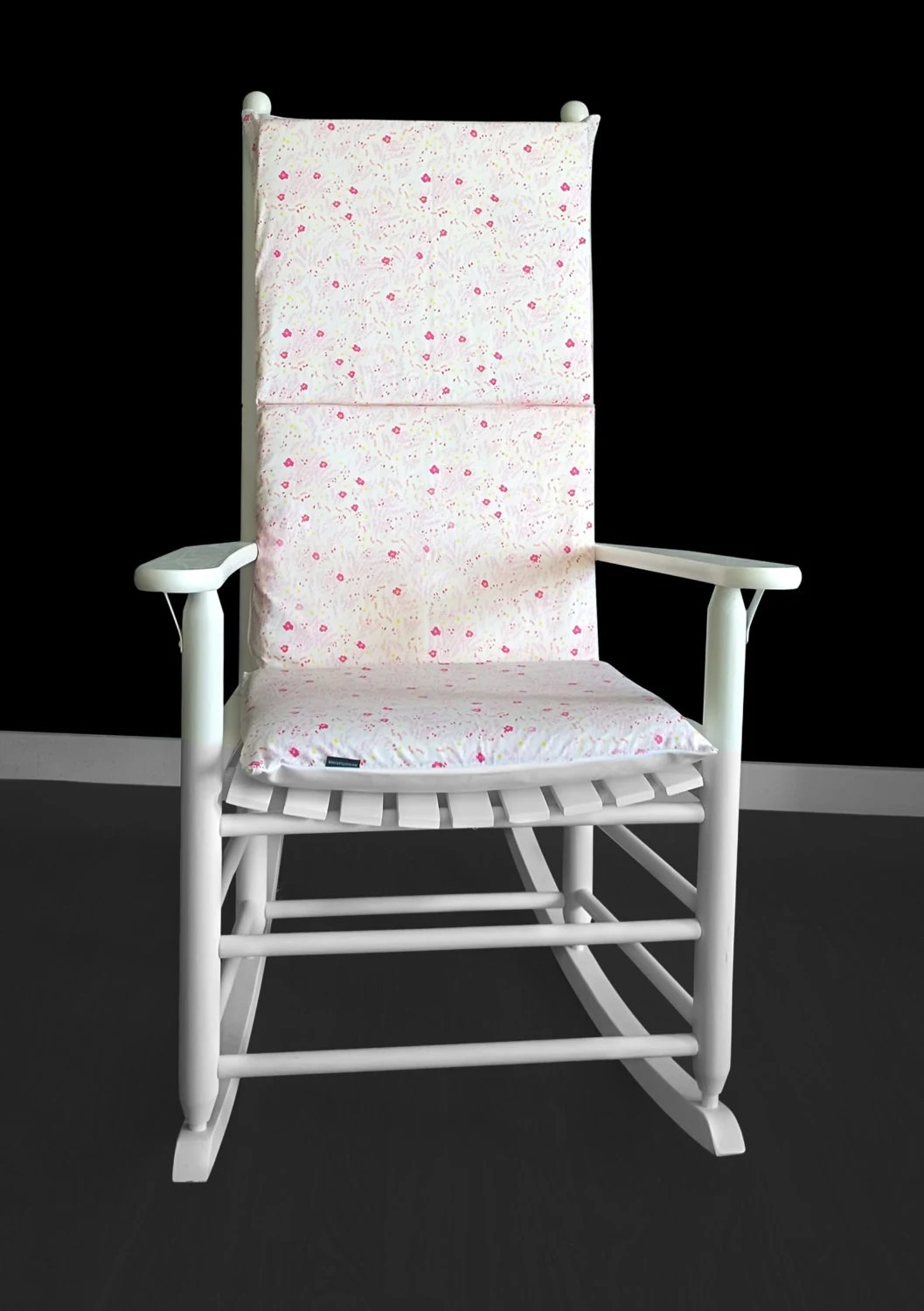 polka dot rocking chair cushions hydraulic barber pink flower petal cushion
