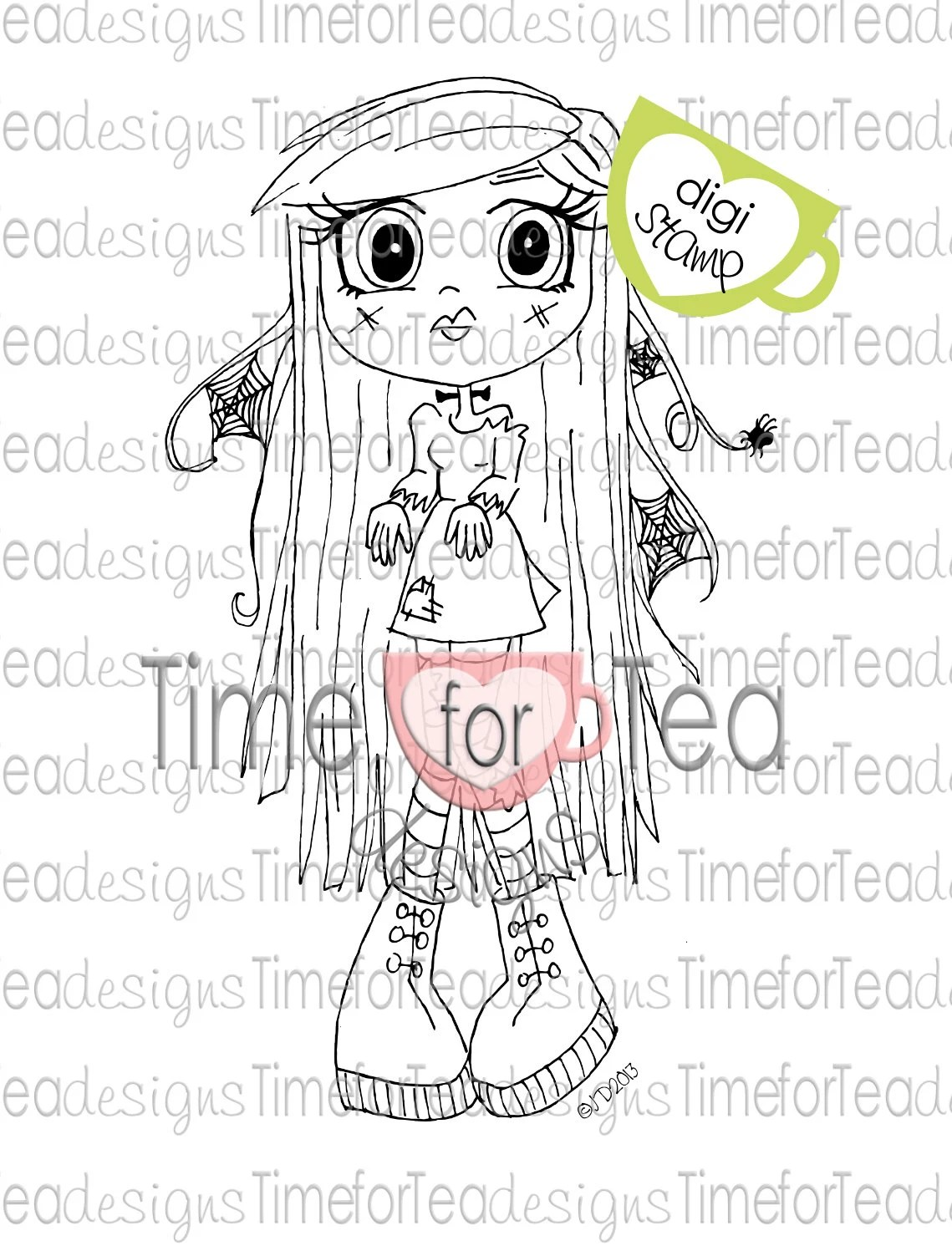 Frankencutie Digital Stamp