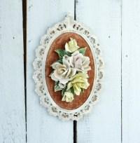 Capo di Monte Italian Wall Decor Capodimonte Floral Rose Wall