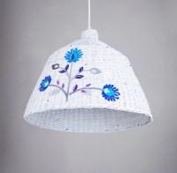 White hanging eco lamp Geometric original simple shape Light