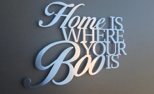 Items Similar To Home Is Where Your Boo Is Metal Wall Art