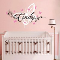 Wall Decal Personalized Girls Name Butterfly Decal Custom