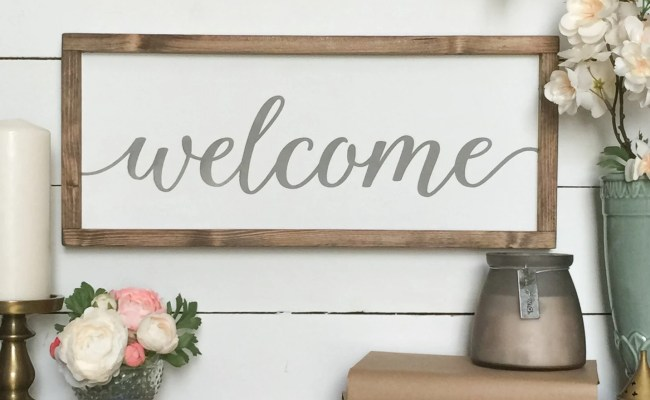 Welcome Sign Welcome Wood Sign Farmhouse Wall Decor