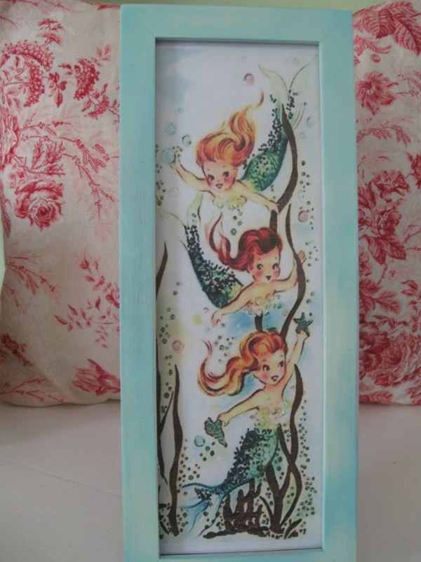 Vintage Mermaid Print