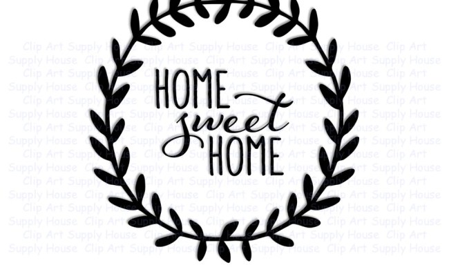 Home Sweet Home Svg Art Svg Clipart Home Decor Wall Art Dxf