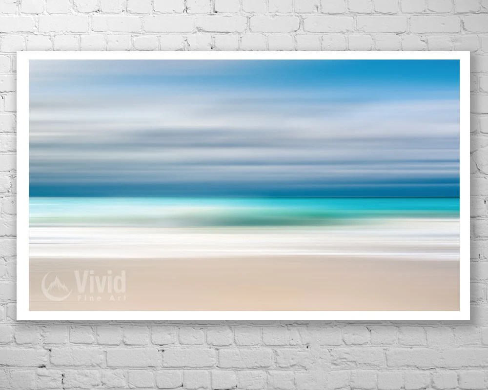 Abstract beach art