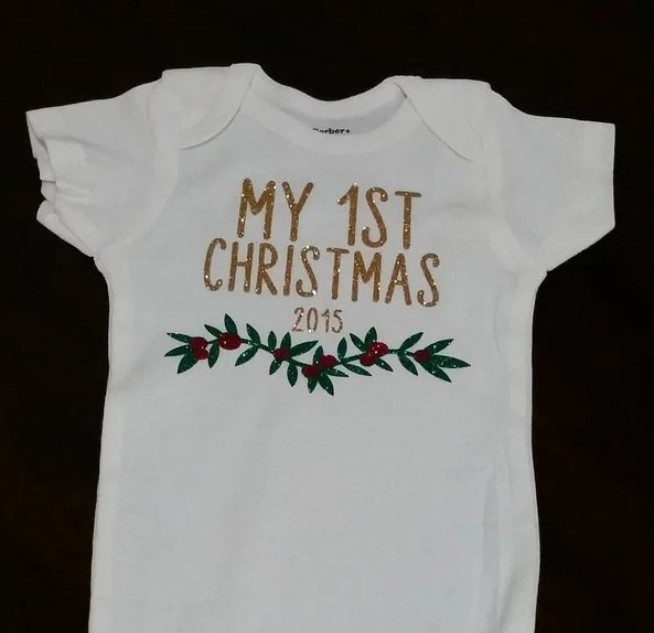 2016 My First Christmas Onesie by ansonandme on Etsy