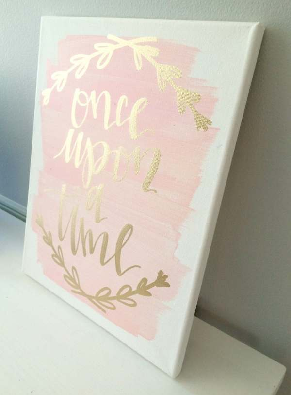Time 11x14 Canvas Sign Wedding Decor Girls Room