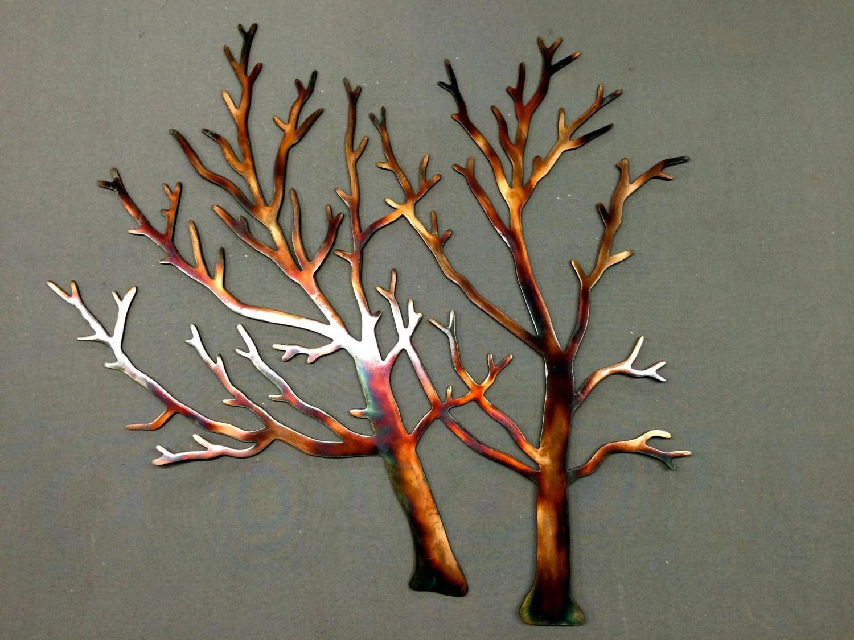 Items Similar To Metal Wall Art Plasma Cut Tree 32 Home