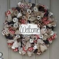Welcome Wreath Front Door Welcome Wreath Chocolate Brown