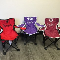 Monogrammed Toddler Chair Malkolm Swivel Kids Tailgating