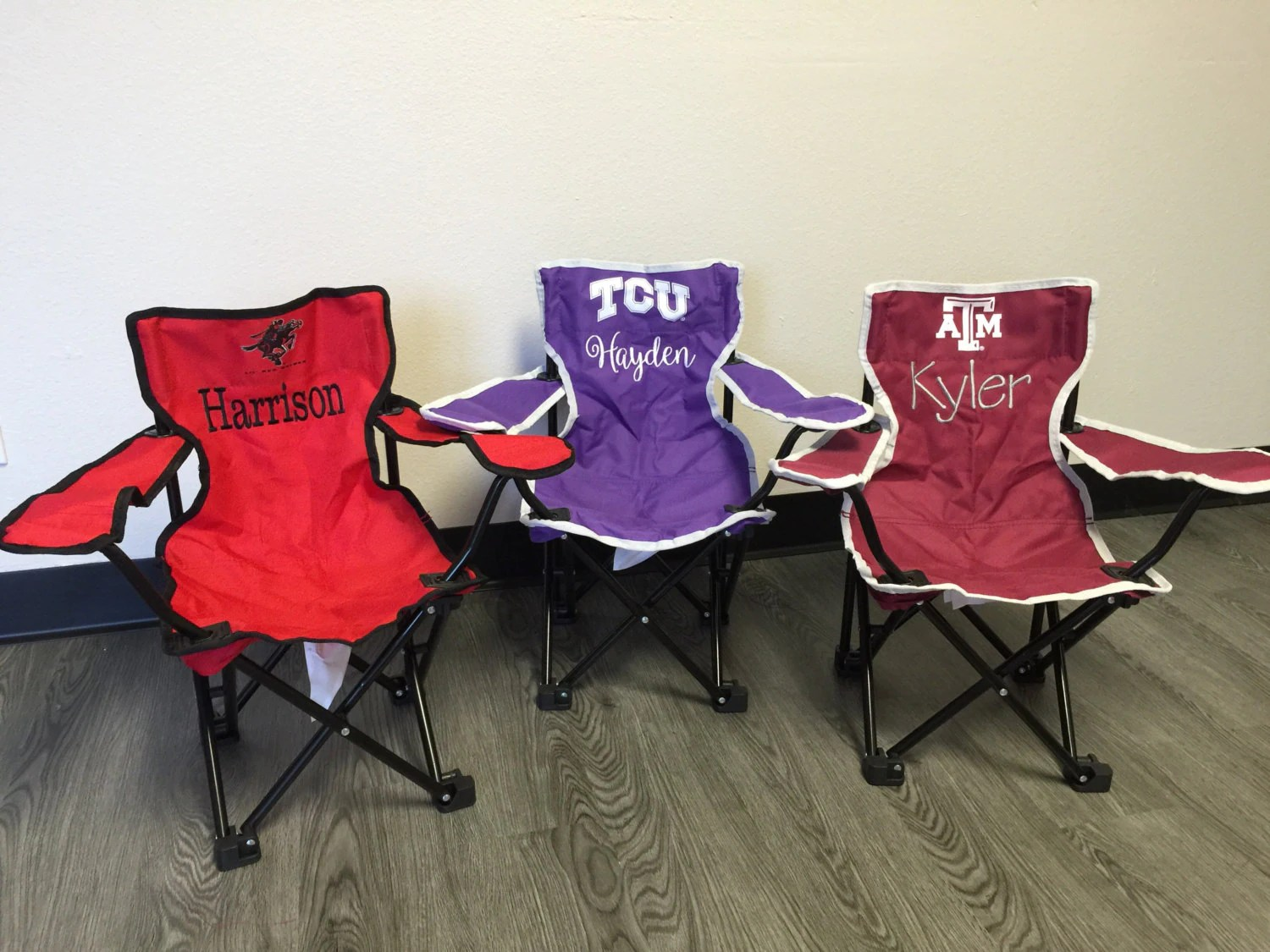 Tailgating Chairs Monogrammed Kids Tailgating Chair