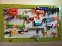 Nerf gun storage rack. Pegboard 36x48 or by ...