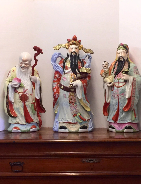 FU LU SHOU 3 Star Gods 3 Wealth Gods 3 Chinese Wise Men