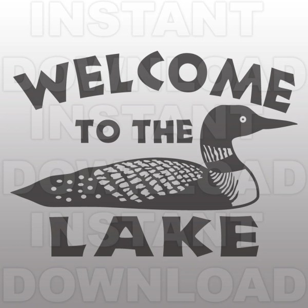 Lake Svg File Loon Rustic