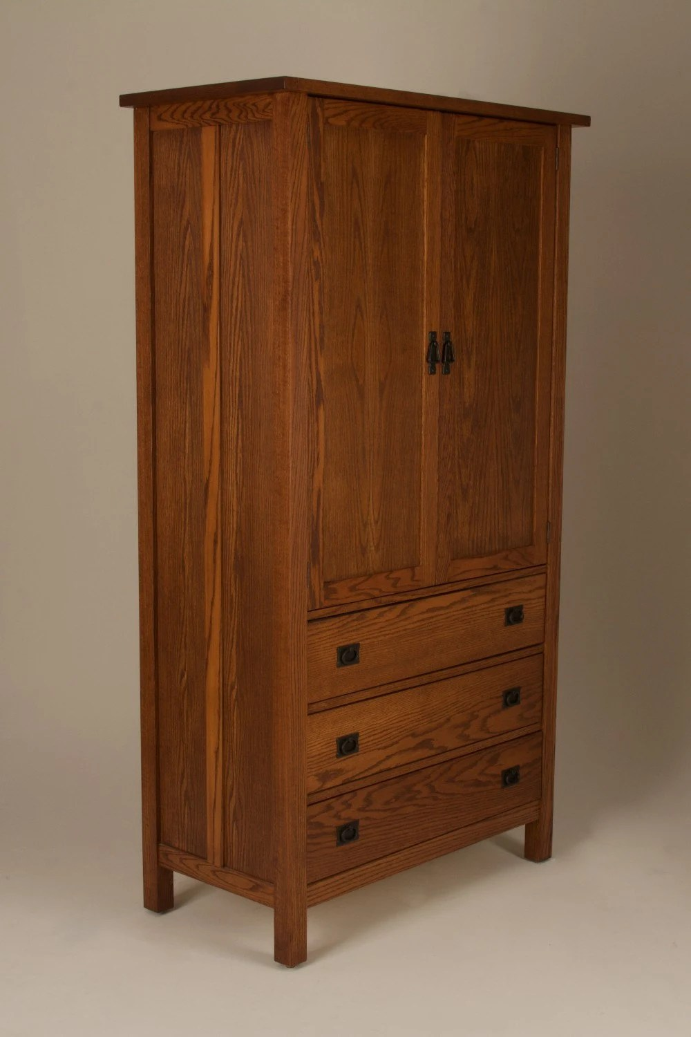 Mission Arts  Crafts Stickley style Wardrobe Armoire