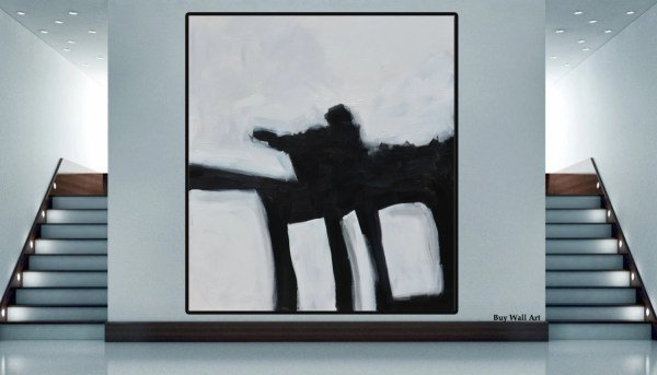 Large Abstract Painting Minimalist Art Hand Painted