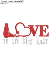 love in hair embroidery