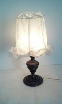 Little lamp shade pewter with antique lace Lampshade