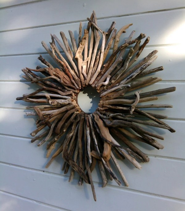 Wreath Driftwood Art Coastal Beach Decor Wall
