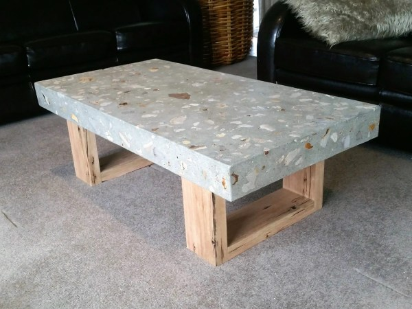 Polished Concrete Coffee Table